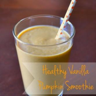 Healthy Vanilla Pumpkin Protein Smoothie