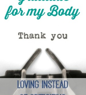 Thank You Body.