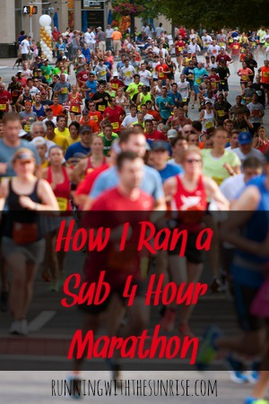 How I ran a sub-4 hour marathon: the top five things that I did to ensure my marathon success.
