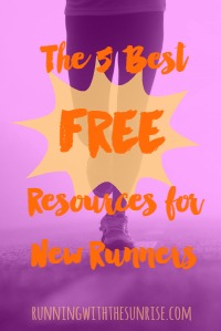 My five favorite free resources for new runners, to help newbies start running and keep going.