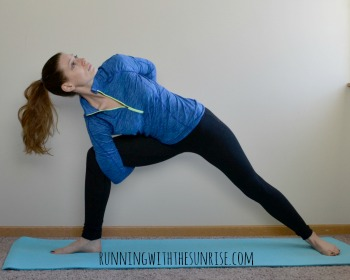 Extended side angle pose with full bind
