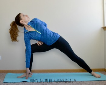 extended side angle pose with half bind