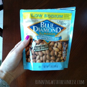 I almost always had a small bag of almonds ready in case I needed a snack.