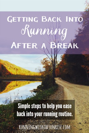 Getting back into running after a break. These simple will help you ease back into your running routine and help you run healthy again.
