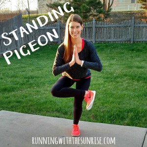 Great balancing yoga poses for runners: standing pigeon
