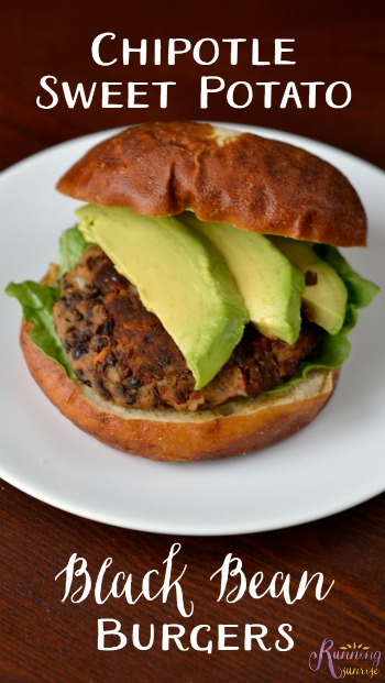 Yum! Chipotle Sweet Potato Black Bean Burger Recipe #vegan #glutenfree