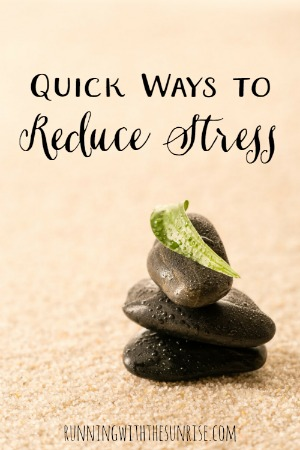 Quick ways to reduce stress. Things you can do as part of your busy life to help yourself relax.