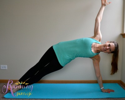 Core strengthening yoga poses: side plank