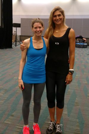 Just lookin' like a hot mess next to Gabby Reece...