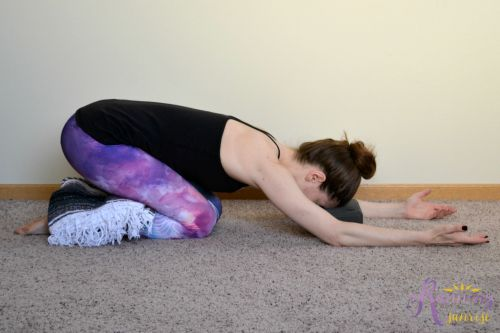 Yin yoga poses: child's pose