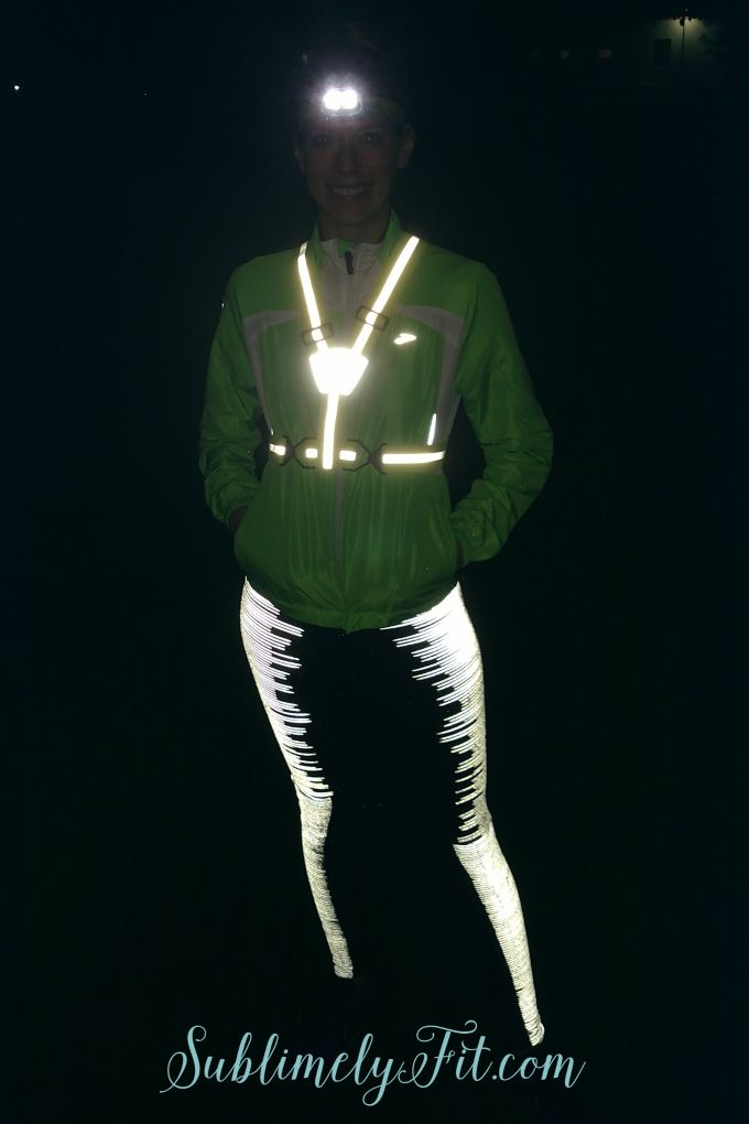 Early morning running tips: wear reflective gear to make it easier to be seen by drivers!