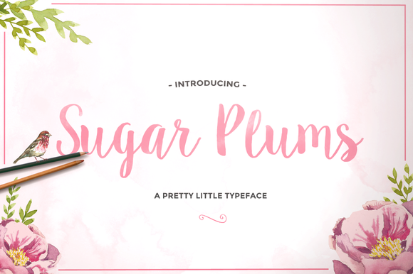 Head to https://creativemarket.com/SweetType/192085-Sugar-Plums-Script to buy this awesome font!