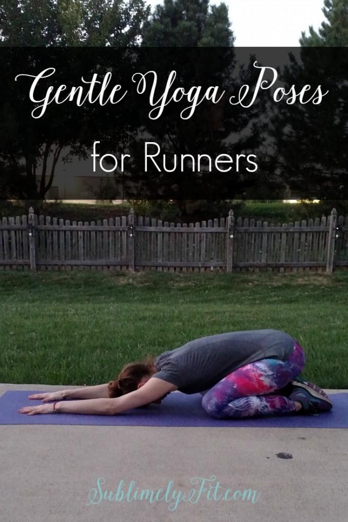 Gentle yoga poses for runners. Sometimes easing into poses is just what you need to really loosen up.