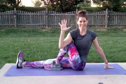 gentle yoga poses for runners: Marichi's pose