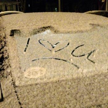 writing on car