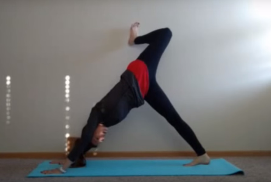 Yoga Sequence for Runners: 3 Legged Dog with Stacked Hips