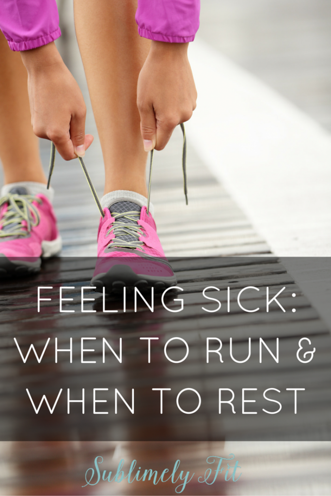 Getting sick and running: when is it okay to push through and run, and when should you take a sick day?