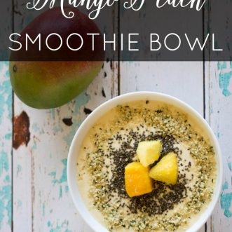 Mango Peach Smoothie Bowl (Vegan, Gluten-Free)
