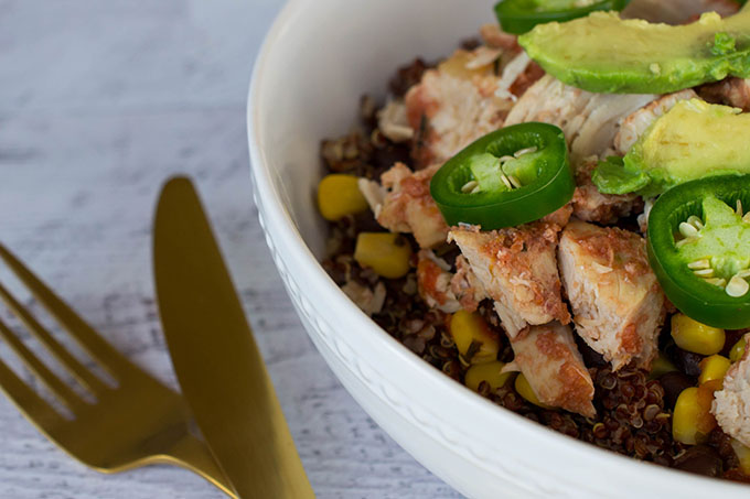 Looking for a simple, healthy meal with Tex-Mex flair? Try my Healthy Tex-Mex Quinoa Bowl! It's gluten-free and made with whole foods.