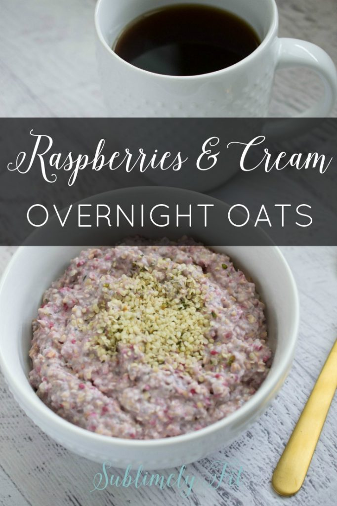 If you're looking for a hearty, healthy breakfast, you'll love my raspberries and cream overnight oats. They're quick and simple to make!