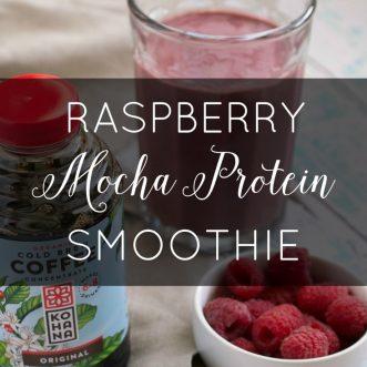 Raspberry Mocha Protein Smoothie