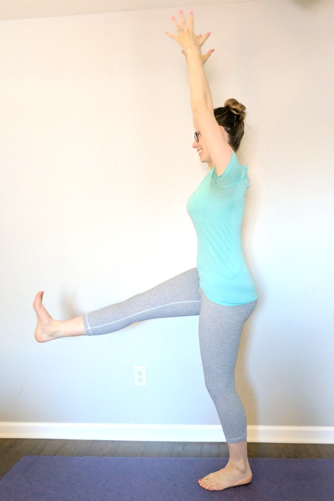 One Legged Mountain Pose - Runners tend to repeat their favorite yoga poses. Is your routine missing these important poses that runners should be doing to prevent injury?